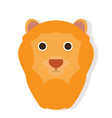 isolated lion face vector image vector image