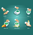 isometric healing herbs preparation concept vector image vector image