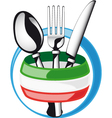 Italian cutlery vector image