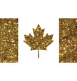 luxury golden glitter canada country flag icon vector image vector image