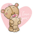 mother bear is hugging baby bear vector image