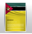 mozambique flag design vector image
