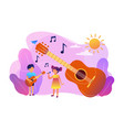 musical camp concept vector image vector image