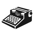 newspaper typewriter icon simple style vector image