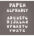 Paper alphabet with the decor inside the letters vector image