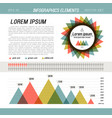 presentation template infographic vector image vector image