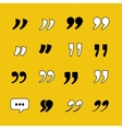 Quotes Template collection for citations vector image vector image