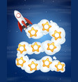 rocket space game template vector image