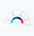 round infographic chart template in the vector image vector image