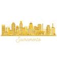 sacramento california usa city skyline golden vector image vector image