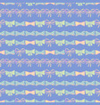 seamless pattern with skerchy bows vector image