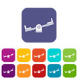 seesaw icons set vector image vector image
