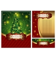 Set of a bright Christmas greeting cards vector image