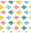small colorful fishes on white background vector image vector image