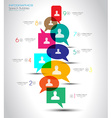 Social Media and Cloud concept Infographic vector image vector image