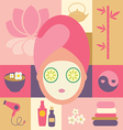 spa and beauty- face vector image vector image