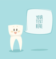 Stomatologist signboard funny tooth concept vector image