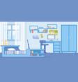 teenage boy bedroom cozy interior flat vector image