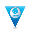 tennis3 BLUE triangular map pointer vector image vector image