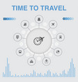 time to travel infographic with icons contains vector image