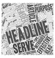 Tips for writing effective headlines Word Cloud vector image vector image
