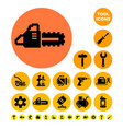 tools for construction and repair pixel icons vector image
