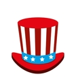 united states of america hat vector image vector image
