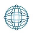 virtual reality spherical panorama drawing vector image