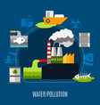 water pollution concept vector image vector image