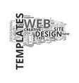 web design templates to jump start your vector image vector image