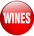 wines red round gel isolated push button vector image vector image