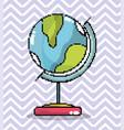 world globe pixel art vector image