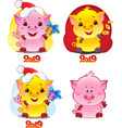 yellow earthy pig for the new year 2019 vector image vector image