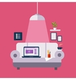 Freelance Office On The Sofa vector image