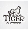 Tiger logo Mascot design template Shop or vector image