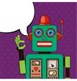 Cool Robot showing OK sign Pop art poster vector image