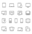 Lines icon set - responsive devices vector image