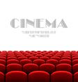 Cinema auditorium with white screen vector image