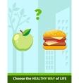Apple or Burger Food Design Flat vector image