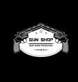 gun shop emblem logo vector image