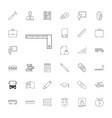 33 school icons vector image vector image
