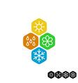 All season symbol Winter snowflake spring flower