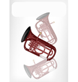 A Musical Euphonium with A White Banner vector image
