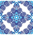 Abstract damask winter seamless pattern vector image vector image