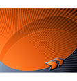 Abstract futuristic background with orange arrows vector image vector image