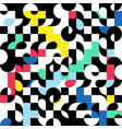 abstract pattern with colorful geometric shapes vector image vector image