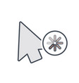arrow busy cursor mouse pointer icon vector image vector image