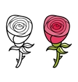 Beautiful cartoon rose vector image