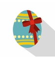 Big easter egg icon flat style vector image vector image