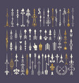 big set hand drawn arrows and design elements vector image